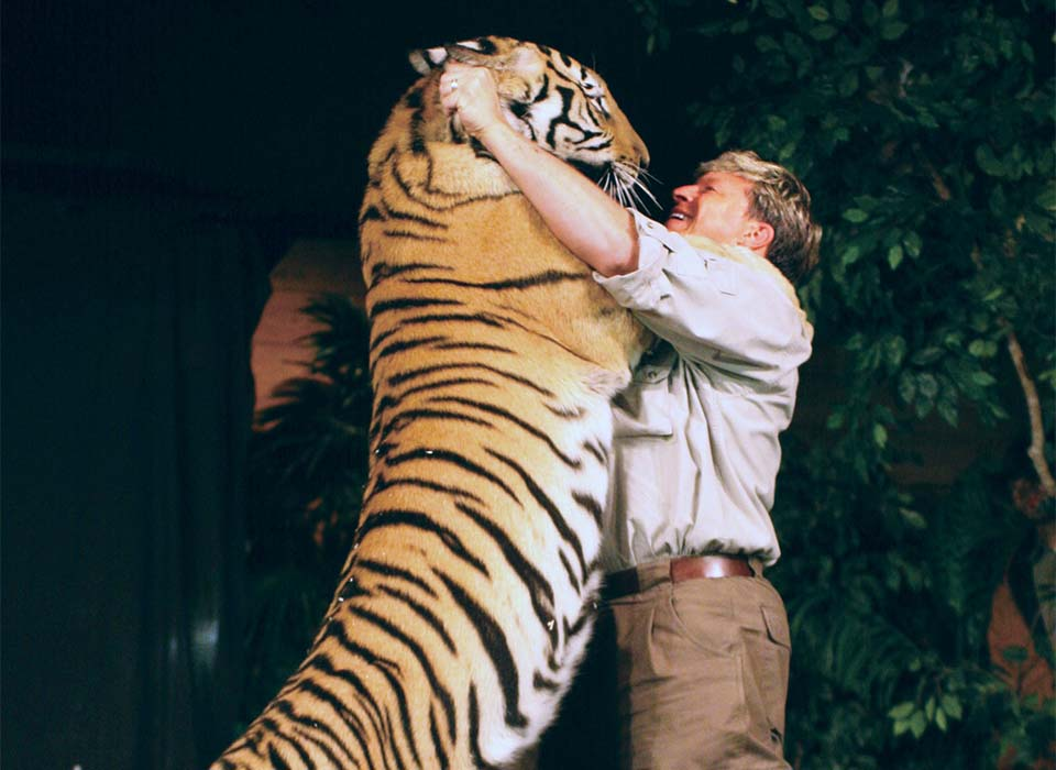 Dan with Tiger